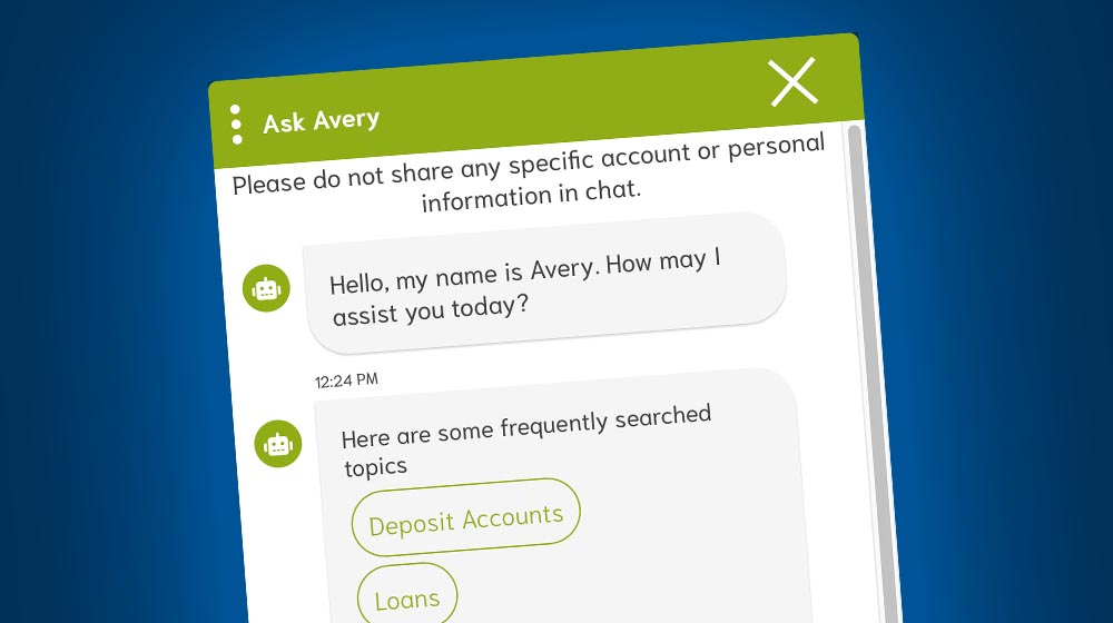 Picture of a chat window for a blog about Just Ask Avery