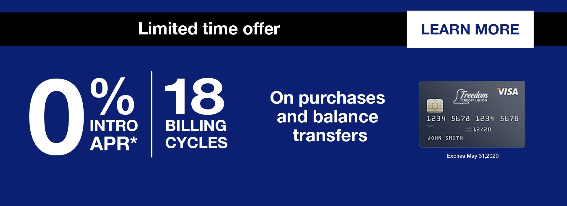 Credit Card Offer - 18%