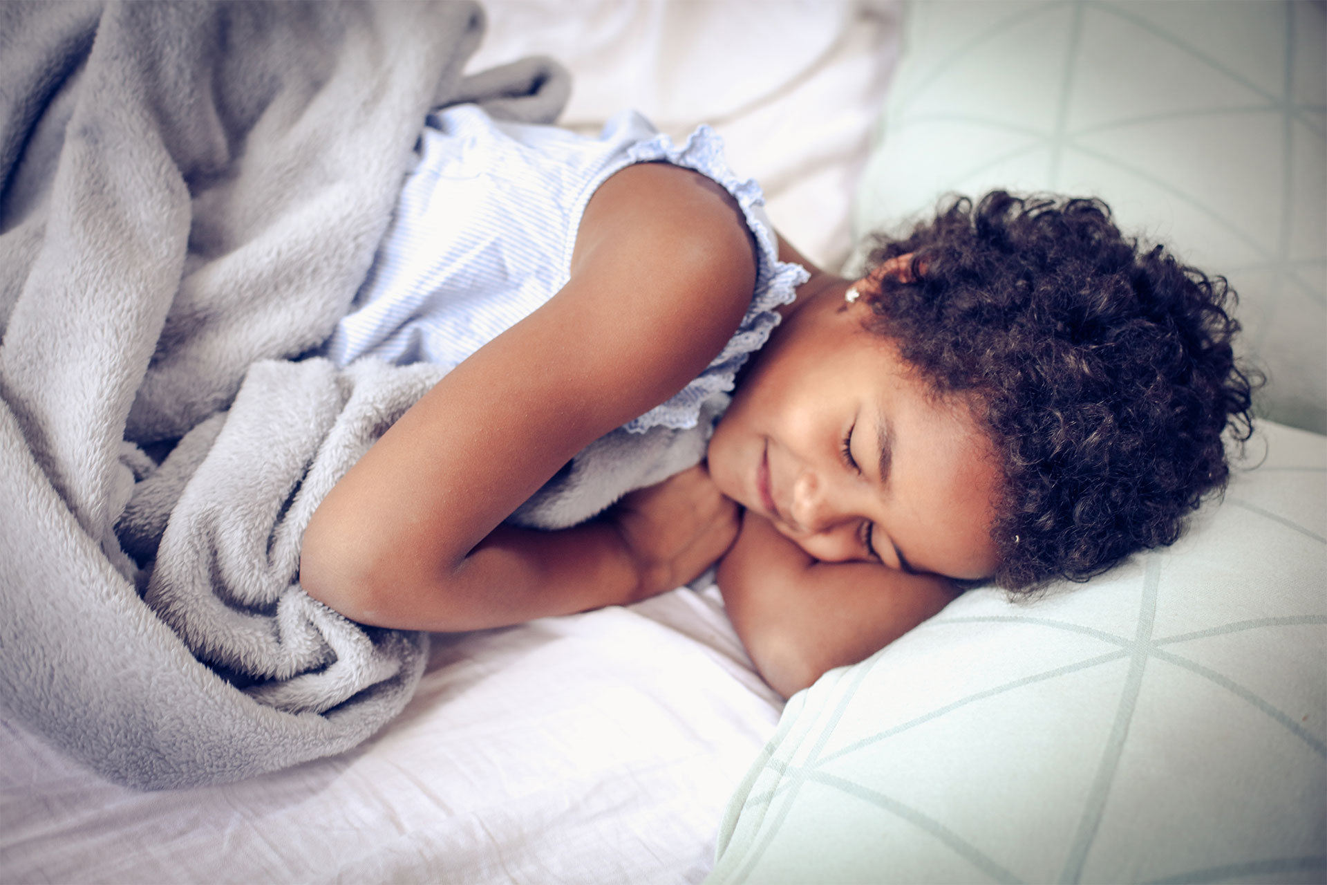 happy child sleeping